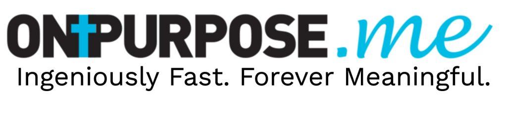 Christian ONPURPOSE.me with tagline Graphic