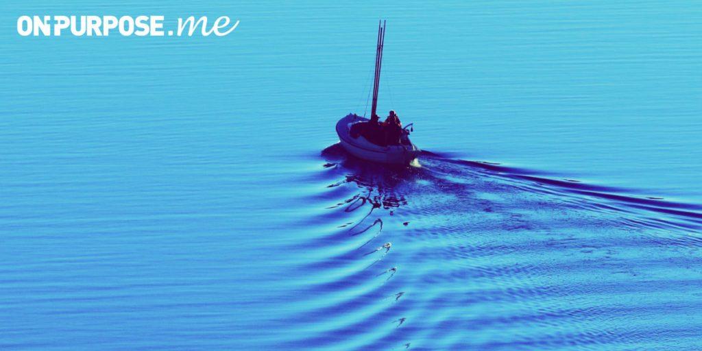 ONPURPOSE.me logo with boat